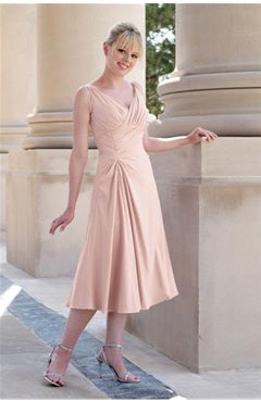 Sleeveless Pinks Elastic Woven Satin Ruffles Bridesmaid Dresses, Style Code: 01997, US$74.00