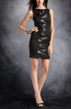 Sheath Short Sleeveless High Neck Little Black Dresses, Style Code: 01790, US$74.00