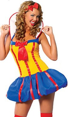 Snow white style adult costume