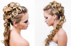 cascading soft curls bridal hair