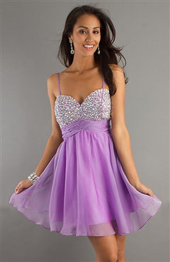 Spaghetti Straps Beading Top Homecoming Dresses, Style Code: 08662, US$94.00