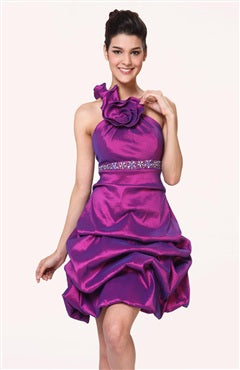 Mini One Shoulder A-line Sleeveless Short Prom Dresses