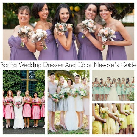 Spring Wedding Dresses And Color Newbie's Guide