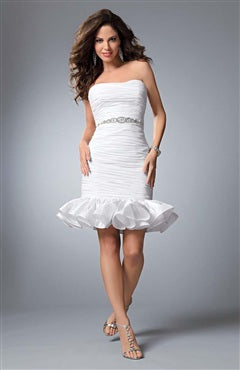 Strapless Short Sheath Sleeveless Homecoming Gowns, Style Code: 04953, US$99.00