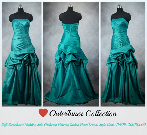 strapless mint green prom dress 11409