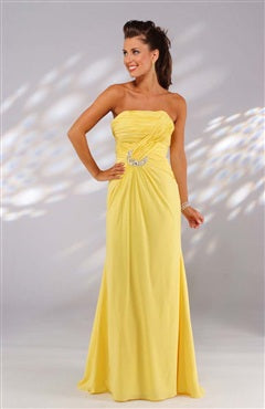 yellow prom dresses cheap 00455