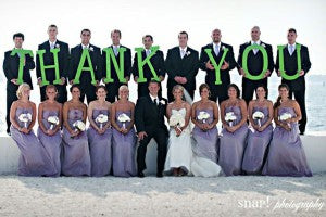 outerinner bridal party pictures guide | thank you