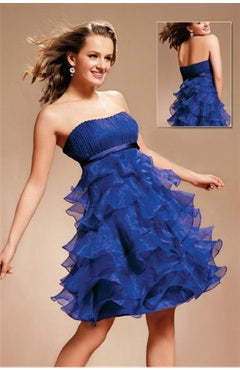 Sleeveless Empire Tiered Prom Dress