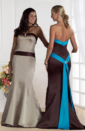 Sweetheart Sash Mermaid Bridesmaid Dress, Style Code: 02778, US$99.00