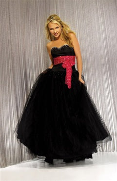 Ball Gown Sashes/ Ribbons Tulle Floor-length Black Tie Event, Style Code: 01211, US$134.00