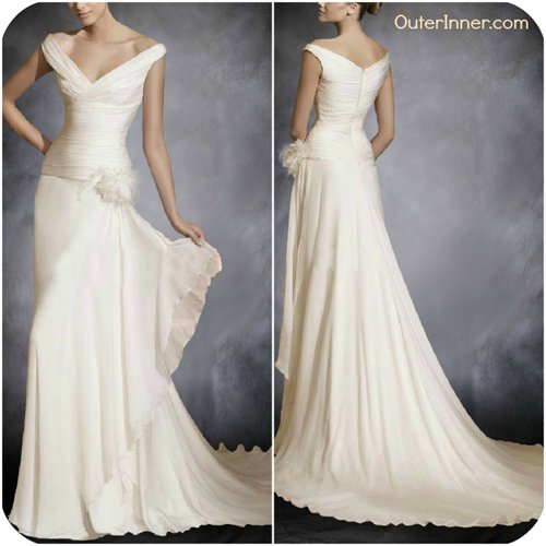v back wedding dress 05089