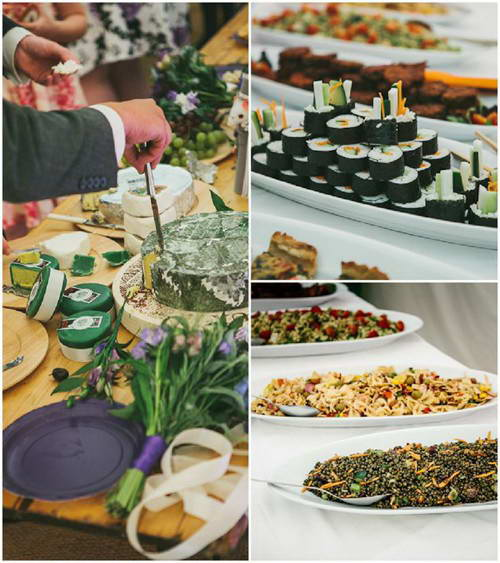 Spring wedding food ideas | vegetarian options