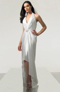 sheath sleeveless white evening dresses