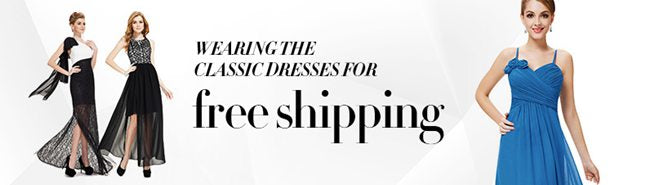 wearing the classic dresses for free shipping