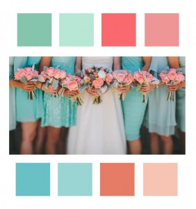 wedding colors with fabric swatches