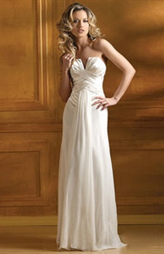 Strapless V-neck Ruffles Wedding Dress, Style Code: 05354, US$109.00