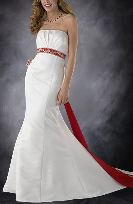 Strapless Mermaid Back Tie Wedding Gown, Style Code: 08974, US$245.00