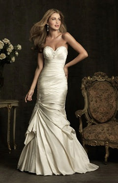 A-line Lace Wedding Dress With Brush Train