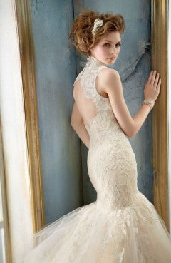 Strapless Lace Trumpet Shape Wedding Dresses With Skimming Silhouette, Style Code: 08515, US$259.00