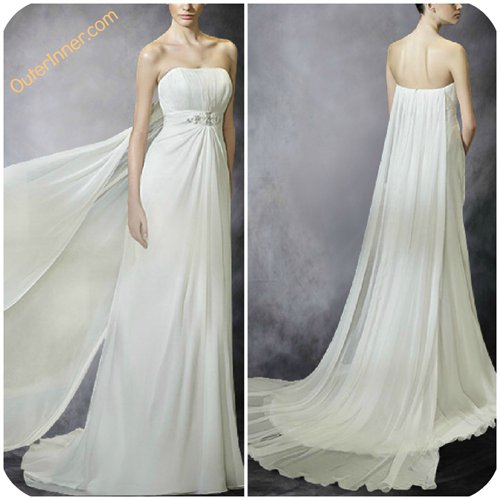 wedding dresses with watteau train 08542