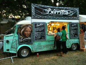 wedding food van: wedding food trends