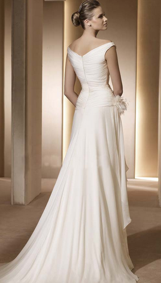 zipper back wedding dresses