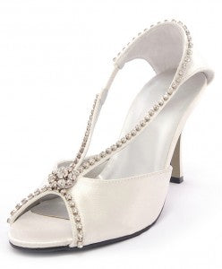 Strappy Satin Sandal with Rhinestones Details Style Code: 08247 US$89.00