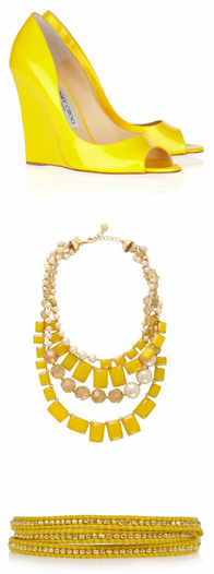funky yellow accessories