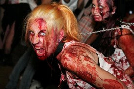 Zombie costumes at halloween