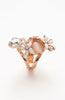 Rose Gold Tinted Cat's Eye Pearl Gemstone Ring image2