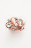 Rose Gold Tinted Cat's Eye Pearl Gemstone Ring