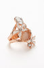 Rose Gold Tinted Cat's Eye Pearl Gemstone Ring image1