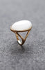 Oval Pearl Cat's Eye Gemstone Ring image1