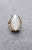 Oval Pearl Cat's Eye Gemstone Ring