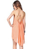 Pink Spaghetti Strap Backless Chiffon Dress
