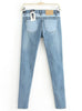 Blue Slim Bleached Denim Pant