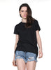 Black Short Sleeve Back Hollow Wing T-Shirt
