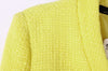 Yellow Collarless Long Sleeve Zipper Suit