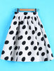 White Polka Dot Flare Skirt