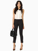 Black Elastic Split Slim Pencil Pant