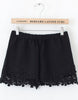 Black Lace Floral Crochet Shorts