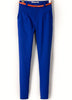 Blue Pockets Slim Crop Pant