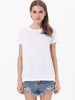 White Short Sleeve Back Hollow Wing T-Shirt