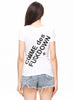 White Short Sleeve Comme Des Fuck Down Print T-Shirt