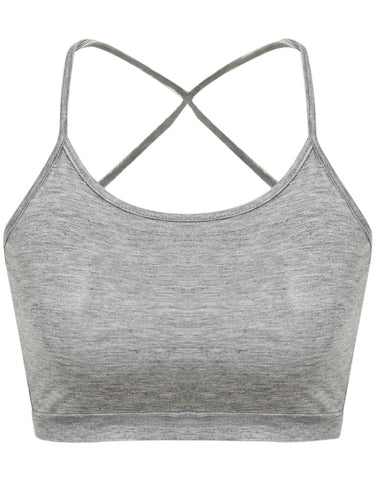 Grey Criss Cross Crop Vest