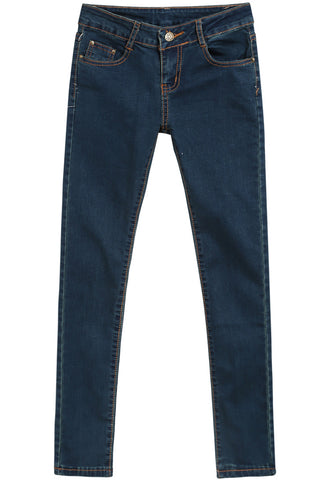 Navy Pockets Slim Denim Pant