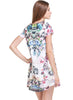 White Short Sleeve Floral Loose A Line Dress
