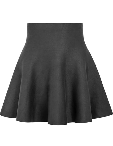 Green High Waist Ruffle Skirt