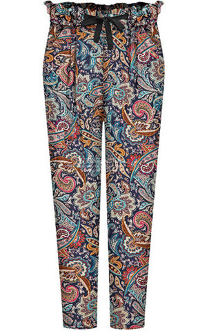 Red Blue Floral Loose Pant