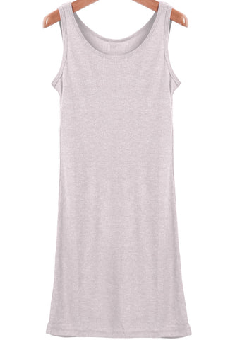 Grey Sleeveless Long Vest